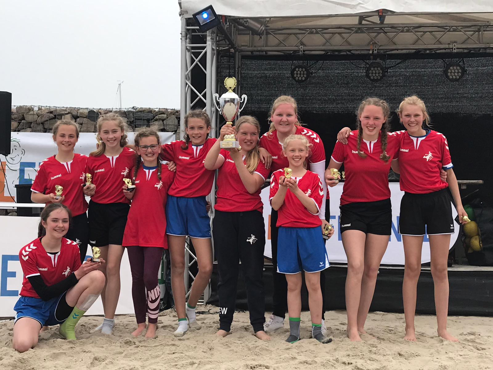 Siegermannschaft Beachhandball